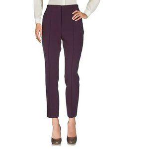 Victoria Beckham Plum Colored Cropped Pants Sz 8